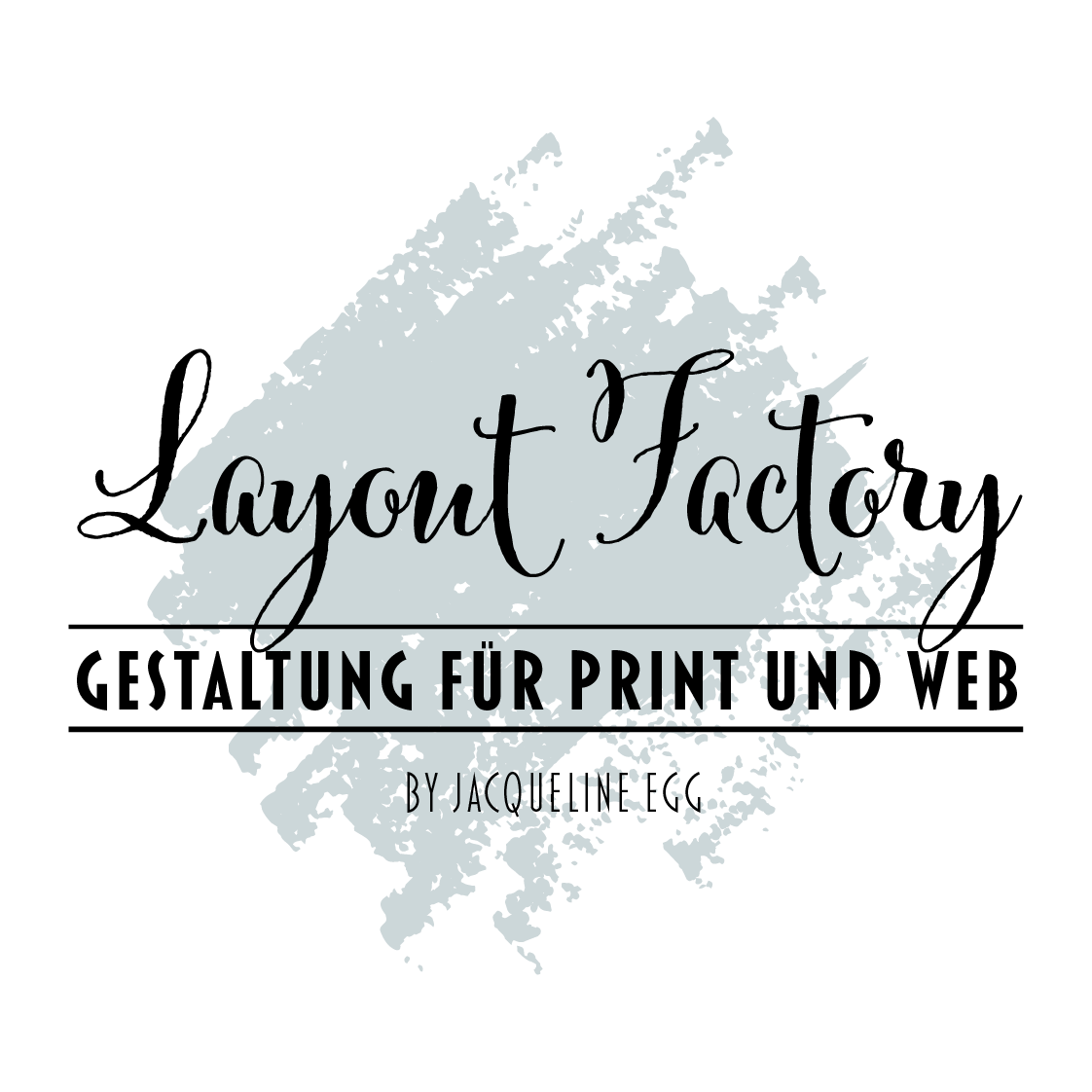 Das Logo von der Layout-Factory Print- und Webdesign